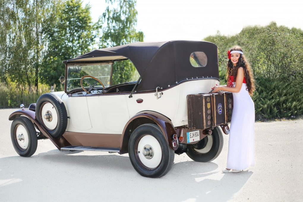Ema ir Citroën Type B2 10CV, 1925 m. Automobilio savininkas -Alfredas Zigmantas. Vilhelmanto Sereikos nuotrauka