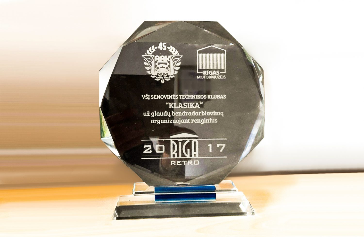 "The award for foreigners was won by the Antique Vehicle Club ""Klasika"""