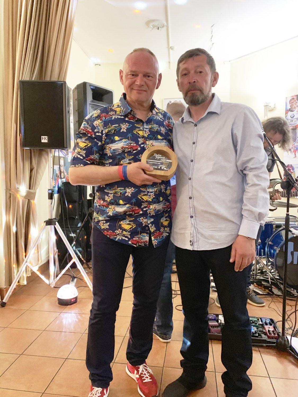Geriausio kabrioleto prizo laimėtojas - Rolandas Kripaitis su Aleksandr Šurin