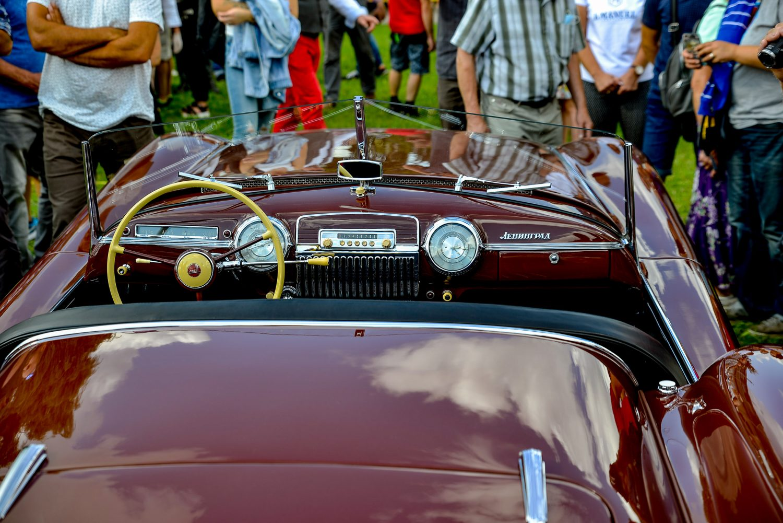 "1953 m. automobilis ""Leningrad"" renginyje ""Nensenstanti Klasika 2020"". D. Nagelės nuotrauka"